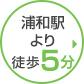 浦和駅より徒歩5分